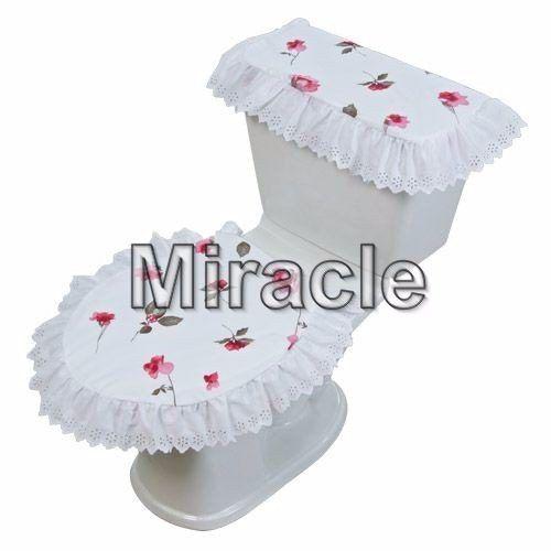 juego de baño tira bordada rosas vgn