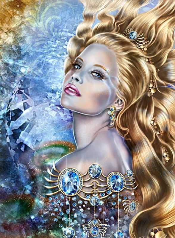 Открытка красивая девушка королева принца золотая блеска, для мама