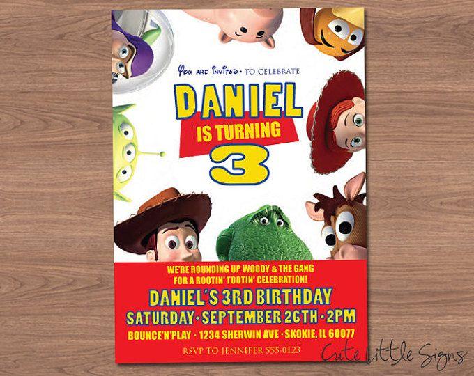 Toy Story cumpleaños invitación Digital descargar