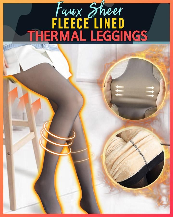 Faux Sheer Fleece Lined Thermal Tights Thermal Tights Thermal Leggings Fleece Tights