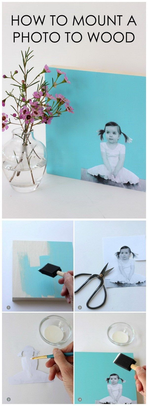 DIY Modern Photo Wall Art. Transform your favorite photo into an art piece for a unique gift idea with Mod Podge, paint, and a wood block.