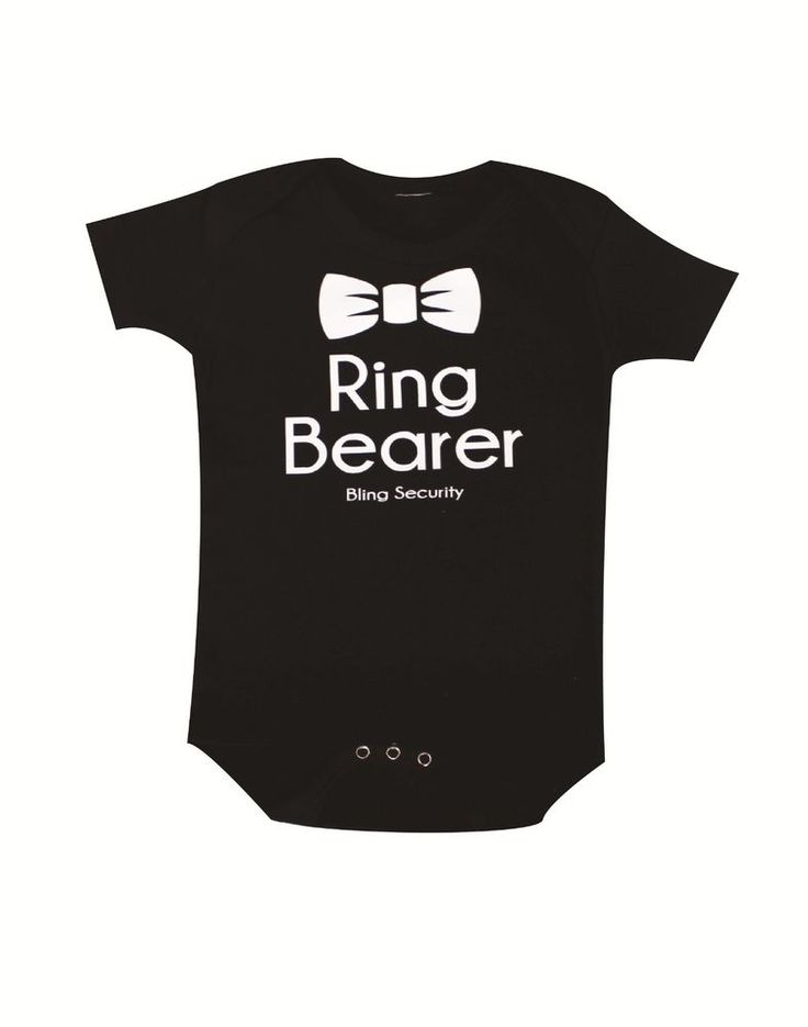 Ring Bearer, Bling Security Funny Baby Bodysuit for Wedding, Baby Wedding Tux #Handmade #DressyHoliday