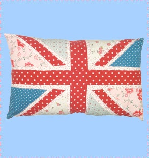 Union Jack cushion: Jack Cushions, Brit Union, Patchwork Union, British Inva, Jack Flags, Patchwork Cushions, Floral Cushions, Jack Floral, Union Jack