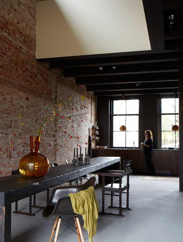 Une maison rustique aux allures de loft au Pays Bas    Décoration Brecht Murré