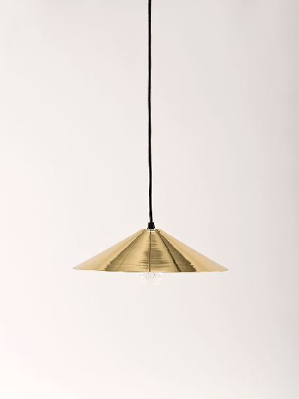 Low triangle pendant light made by douglas and bec brass douglas bec