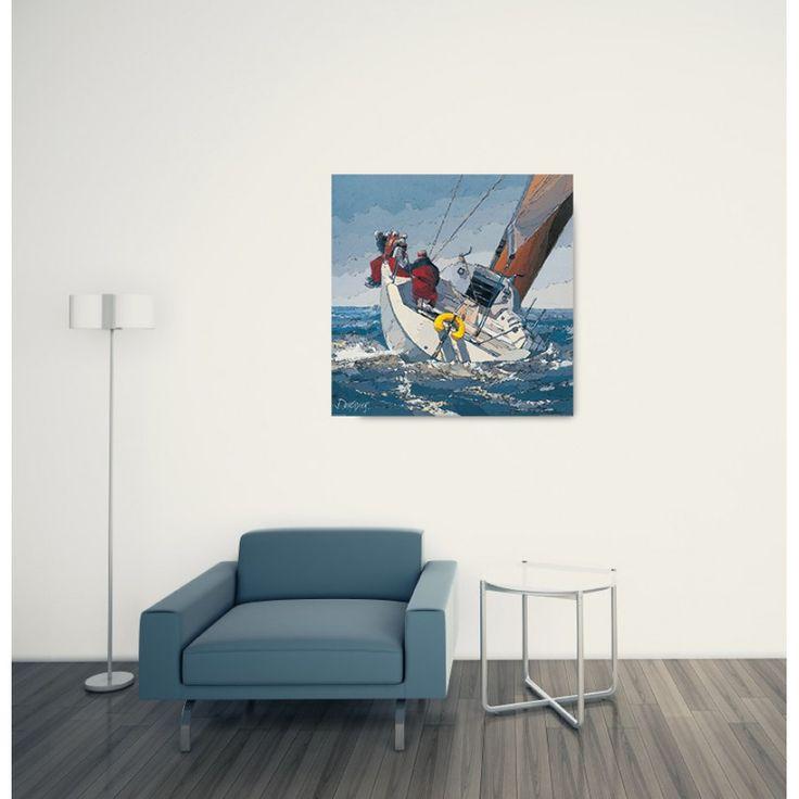 DEKERYVER - Dans le clapot 70x70 cm #artprints #interior #design #sports #print  Scopri Descrizione e Prezzo http://www.artopweb.com/EC20843