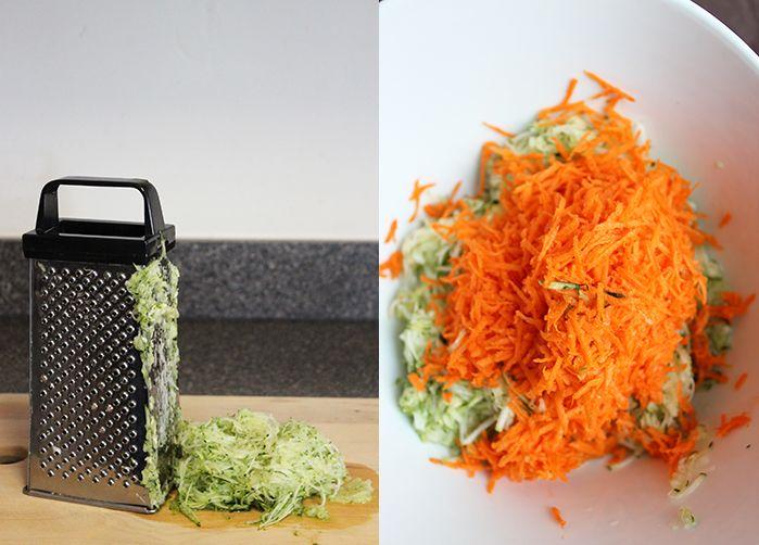 Croquetas de zanahorias y zapallo italiano