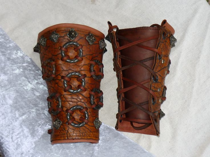 how to make leather bracers