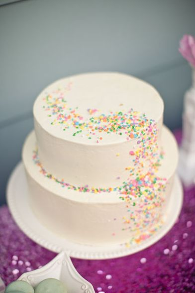 Cake Decorating Ideas Sprinkles : 25+ best ideas about Sprinkle Birthday Cakes on Pinterest ...