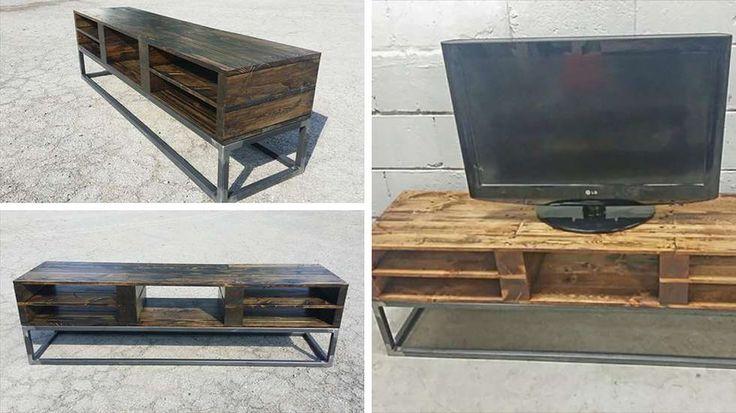 meuble tv palettes industriel