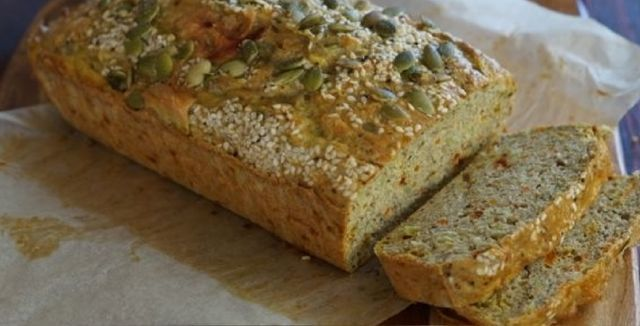 Paleo Savoury Bread Loaf Recipe.