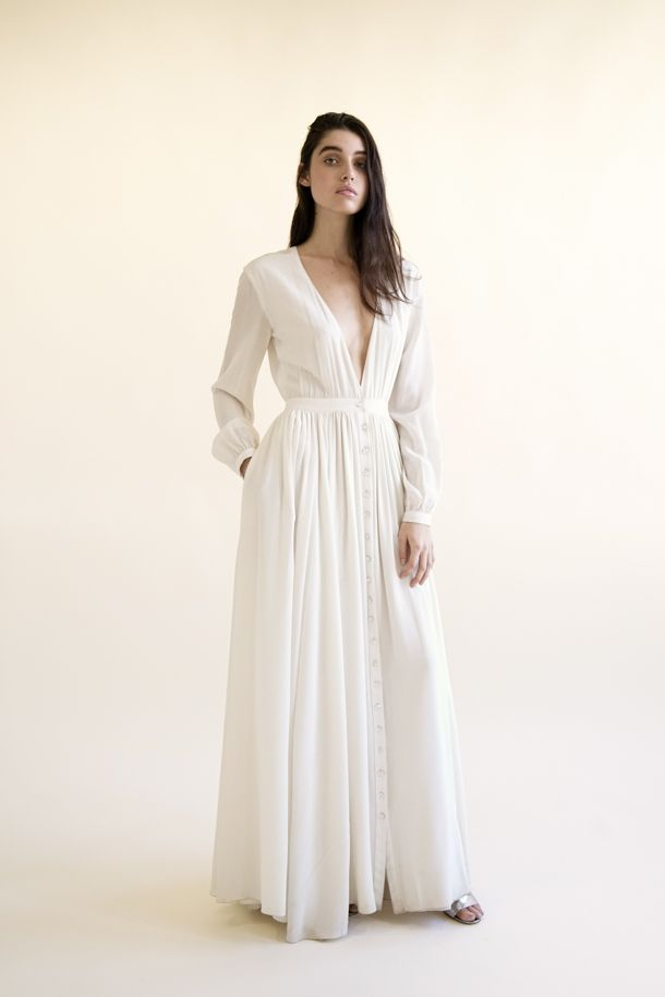 Galina Gown Houghton Wedding Dress With Pockets Modern Bridal Gowns Wedding Dress Long Sleeve