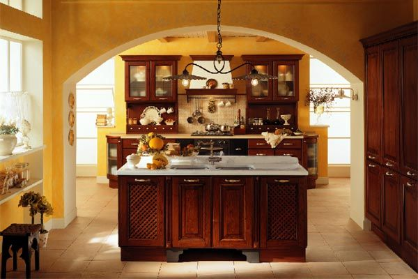 78 best tuscan kitchens images on pinterest for Cheap rustic kitchen cabinets