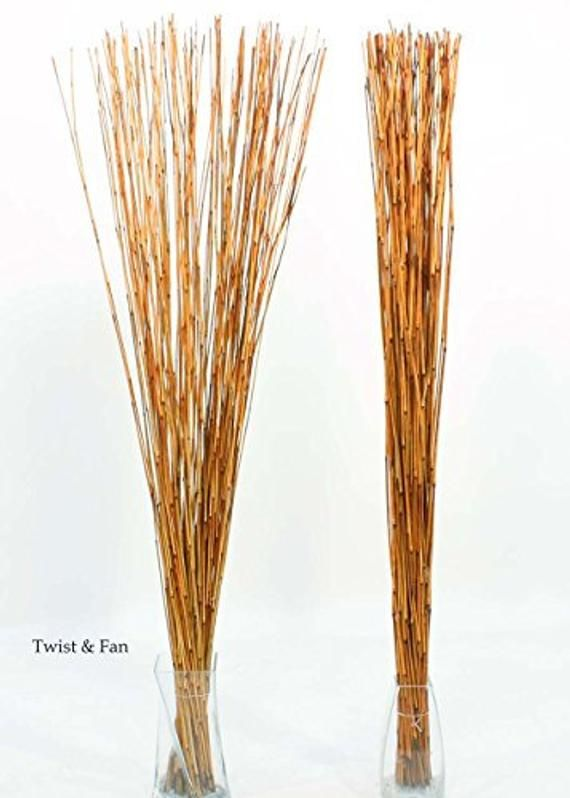 Decorative Reed Sticks Burnt Orange In 2020 Decor Burnt Orange Orange