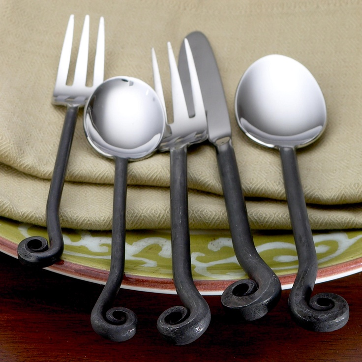 Treble clef flatware for the home pinterest flatware treble clef and world market - Treble clef silverware ...