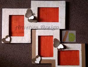 #cardbord #frame #greendesign #ecodesign #pictureframe #diy #handmade Cornici fatte a mano con cartone e carta, ecologiche e riciclabili per mostrare le tue foto più belle