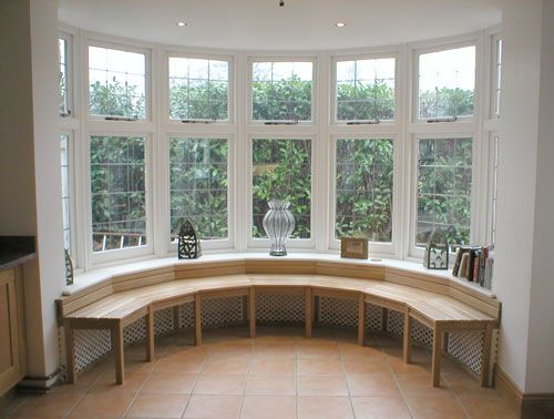 9 best images about basement windowseat on pinterest for Bay window designs