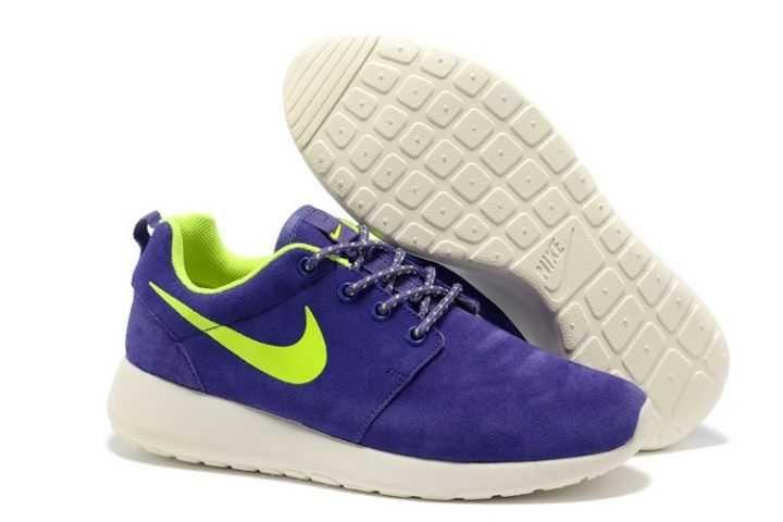 Order Nike Roshe Run Suede Womens Purple White Green