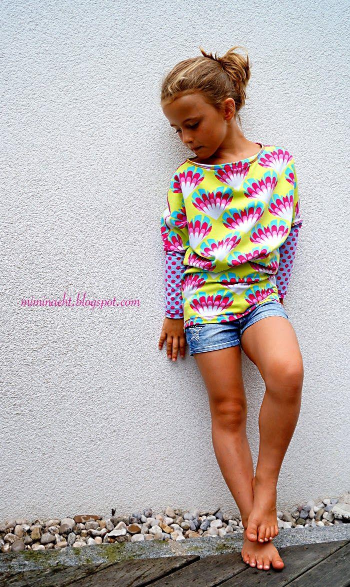 Mimi näht: tolles Shirt mit Fledermausärmeln
