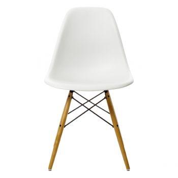Eames DSW tuoli korkea, valkoinen/vaahtera
