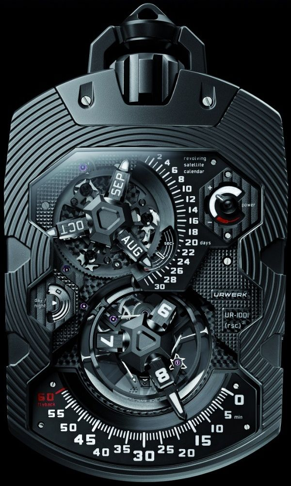 Steam Punk Pocket Watch- Urwerk UR-1001 Zeit Device Pocket Watch