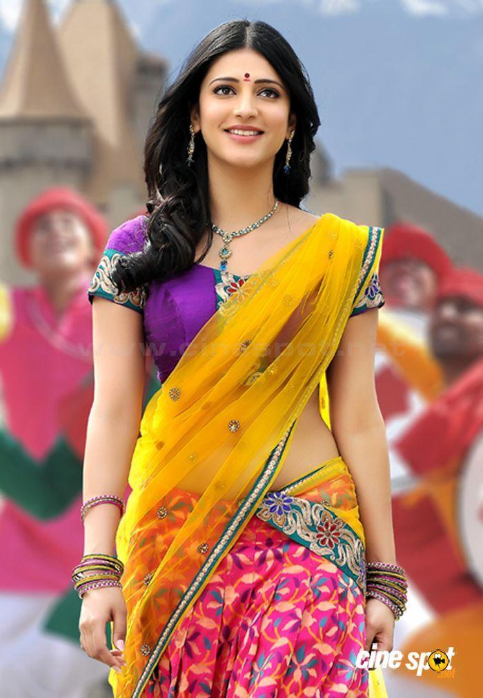 Sruthi-Hassan-Navel-In-Saree-In-Gabbar-Singh-2 | Indian ...