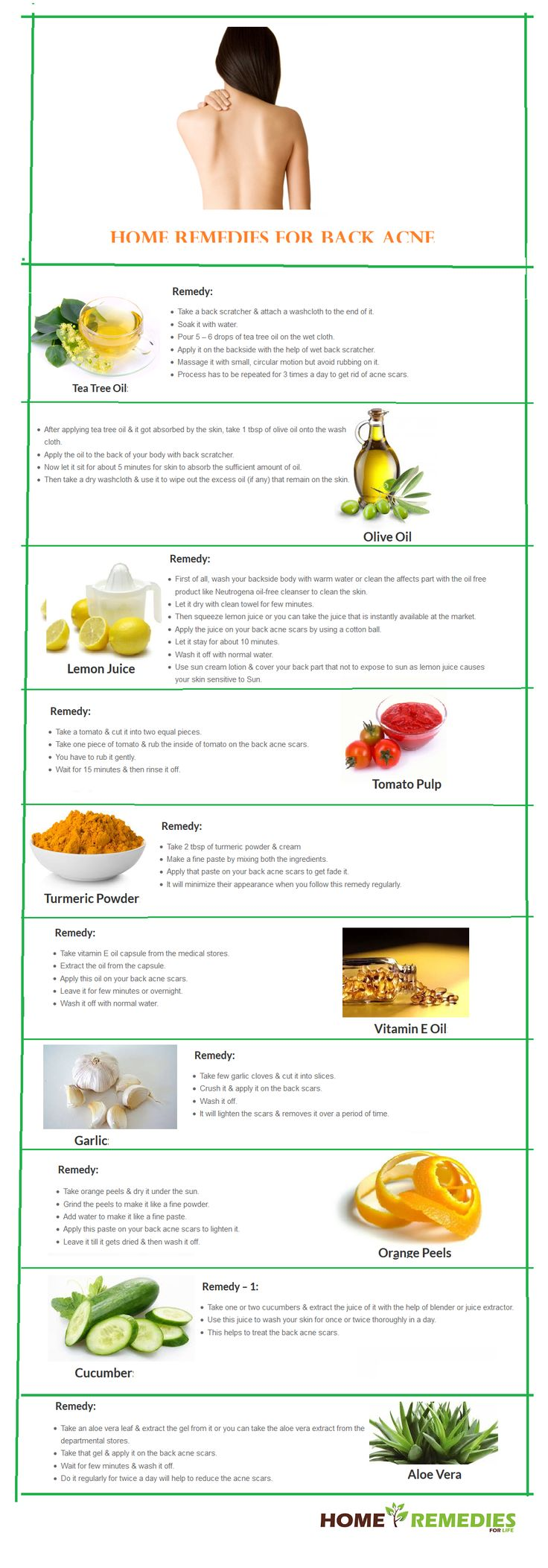 DIY Home Remedies for Back Acne Scars
