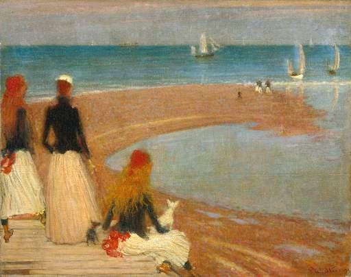Philip Wilson Steer The Beach at Walberswick (circa 1889). Oil on wood.