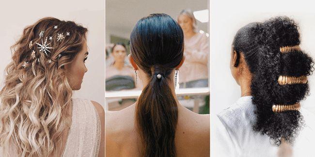 Easy Hairstyle for Wedding Function in 2020 | Simple wedding hairstyles, Bridesmaid hair, Hair ...