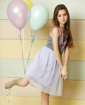 Matilda Jane Clothing ~  The Tween Cher Star Gazer Dress is made for the girl who likes to dream and keep her head in the clouds, day or night! A dreamy lavender mesh overlay and jacquard bodice with parfait pink trim give this dress just the right amount of something special.