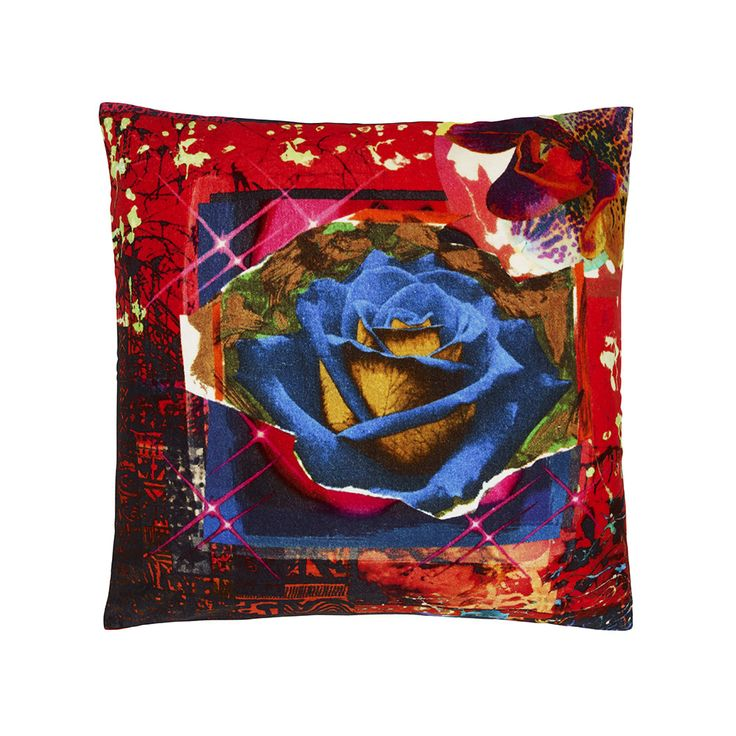 Discover the Christian Lacroix Rose Garden Cushion - Scarlet at Amara