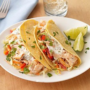 If healthy fish tacos are new to you, this crunchy, creamy version is a great way to try them.