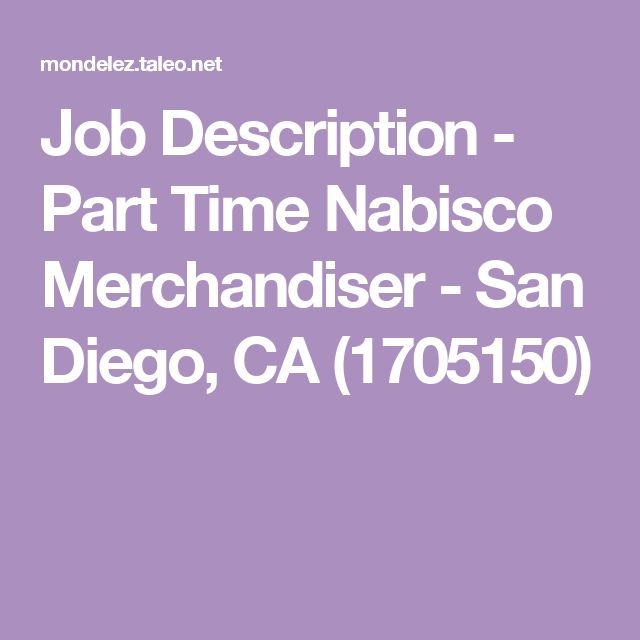Die besten 25+ Nabisco jobs Ideen auf Pinterest - merchandiser job description