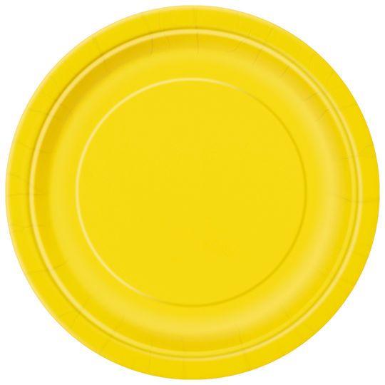 "9"" Yellow Dinner Plates, 8ct"