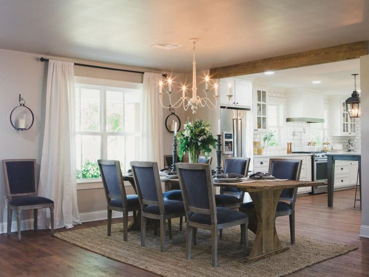Fixer Upper Second Chance At A Home In The Country Chip Gaineschip And Joanna Gainesdining Room Curtainsdining