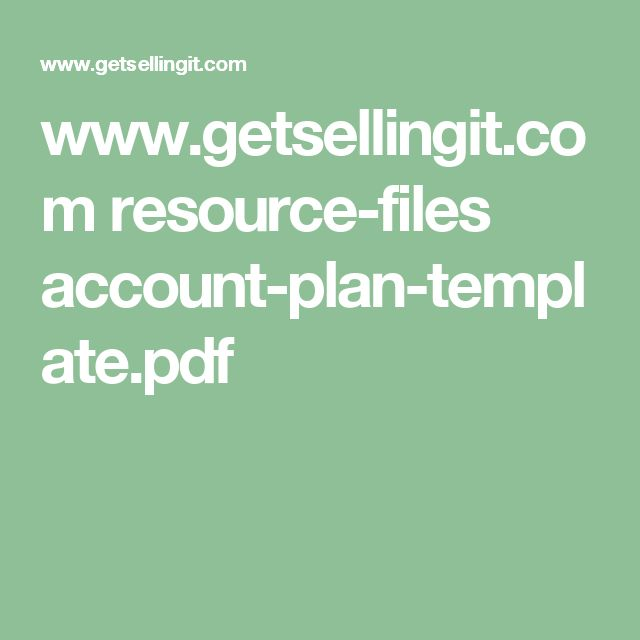 14 best Enterprise Sales and Account Managment images on Pinterest - account plan templates