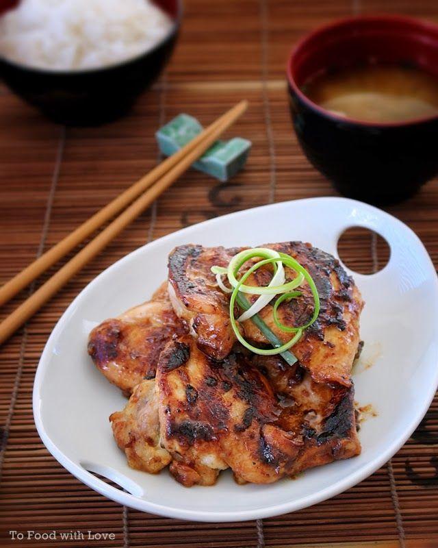 Grilled Miso Chicken. 6 medium-large chicken thighs ...