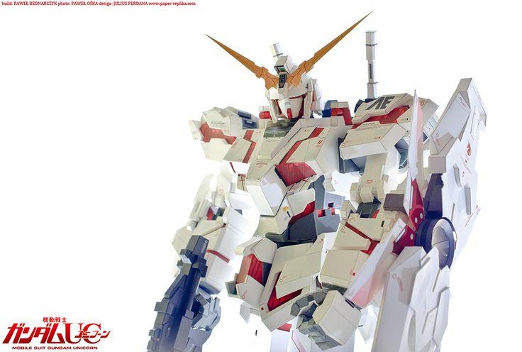 Gundam Unicorn RX-0 NT-D mode papercraft by pablito77 on DeviantArt