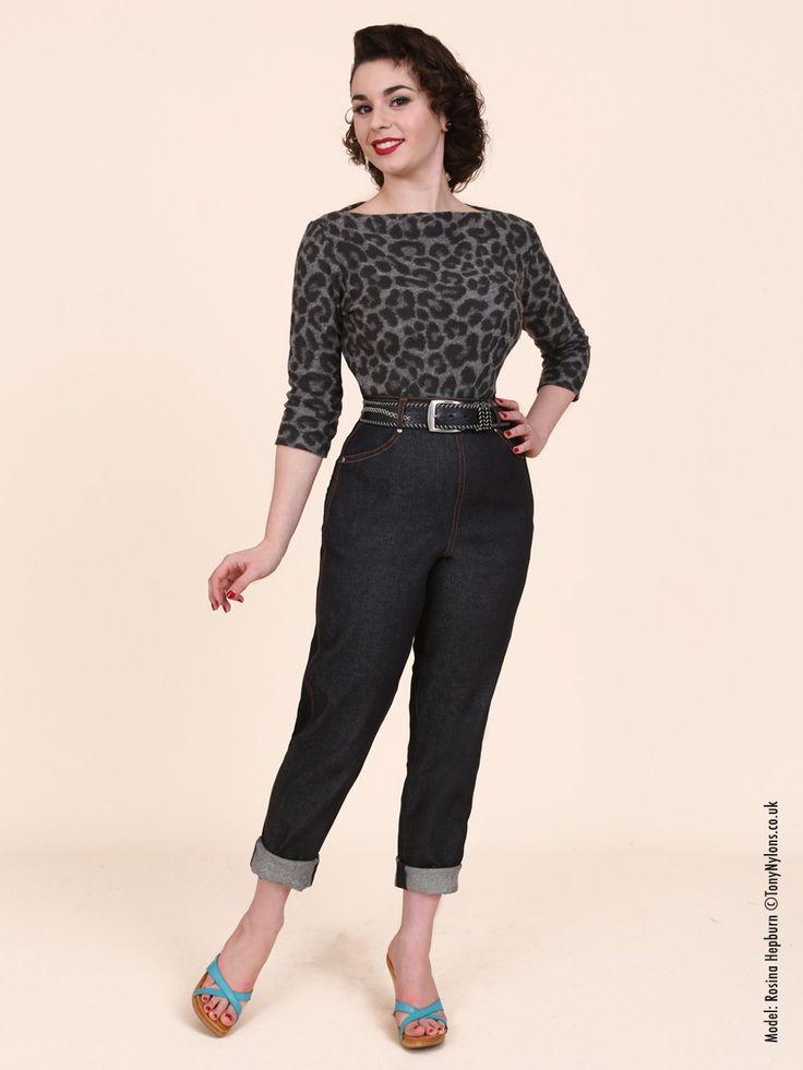 1950s Fashion For Women Jeans 1950 jeans blue denim ...