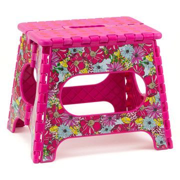 Folding Step Stool Pink, $15, now featured on Fab.