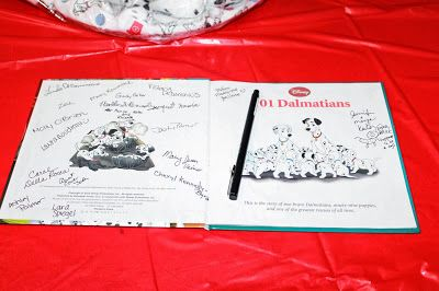 Guestbook can be a copy of 101 Dalmations storybook