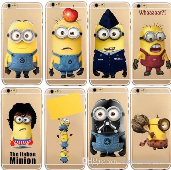 Despicable Me Minions phone case for iphone 7 6 6s plus soft TPU defender cover case emoji design protector cover case 1pc deliver