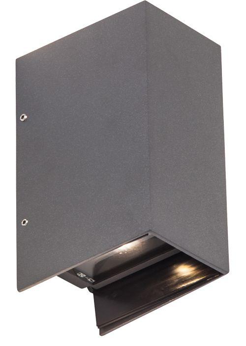 AEG ADAPT LED Wandleuchte Lotuseffekt 17,2 cm Anthrazit AEG280013 | LED-Lampenladen.de