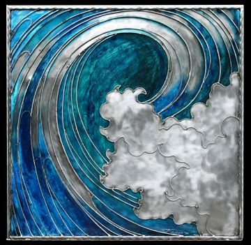 """Blue Wave  - beautiful! 30"""" x 30"""" Zachary would love this!"""