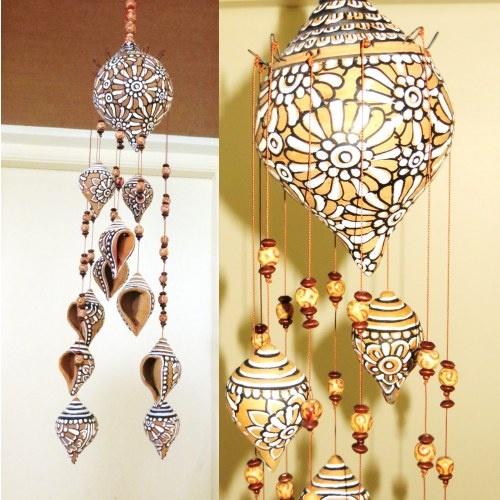 Terracotta Shell Hanging Home Decor Online Shoppinginterior