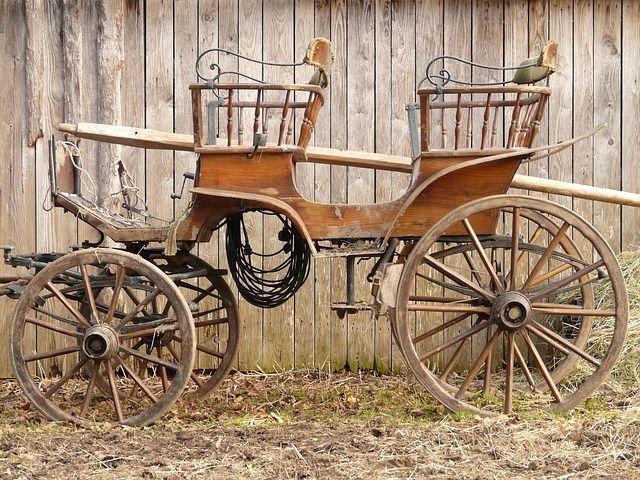 Coach, Horse-Drawn Carriage, Wagon, Team, Old by Hans