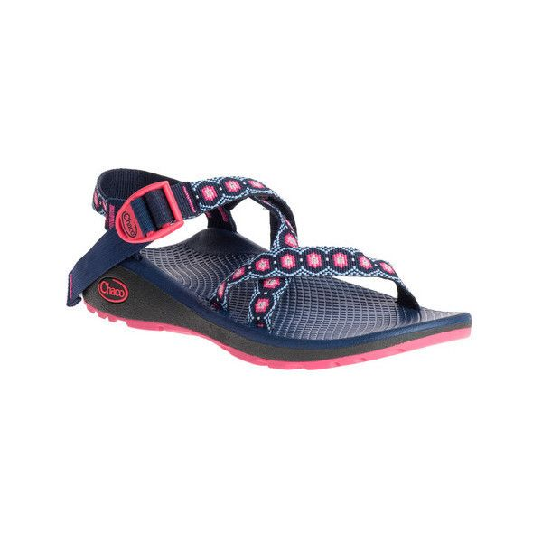 Women's Chaco Z/Cloud Sandal ($110) ❤ liked on Polyvore featuring shoes, sandals, casual, casual footwear, chaco sandals, pink sandals, sport sandals, chaco shoes and strap sandals