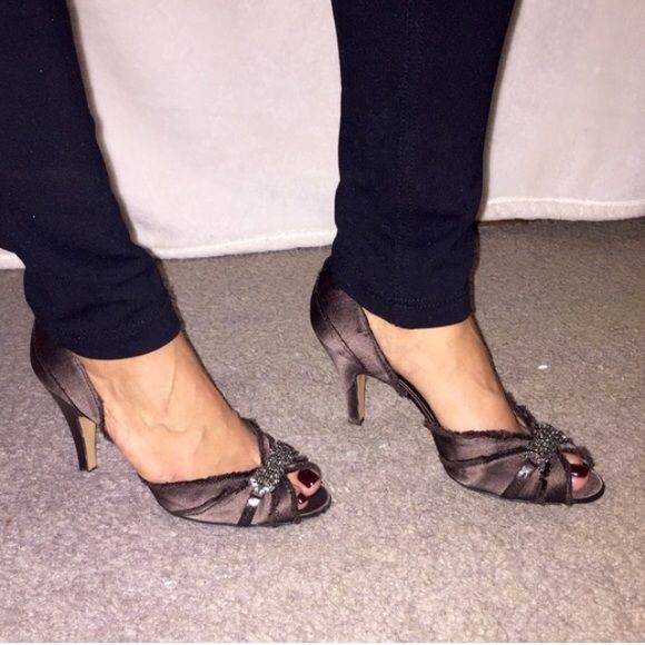 Padri Garcia Brown Satin Heels 💎 Brand new, never worn with tags. Says size 36.5 which is 6.5 in US. Made in Spain. Leather sole. True color shows picture #3. Pedro Garcia Shoes Heels