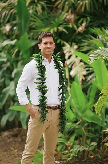 Maile Style Ti Leaf Lei-took me a minute to realiz…