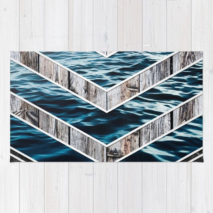 Striped Materials of Nature III Rug #wood #wooden #marble #stone #sea #ocean #stripe #stripes #striped #nature #texture #homedecor #rug
